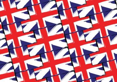 Tapeta Grunge UK flaga lub baner