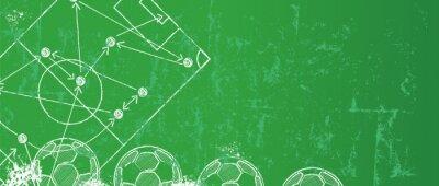 Tapeta Grungy piłka nożna / piłka nożna szablon projektu, kopia wolne miejsce, wektor