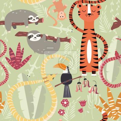 Tapeta Grupa Dżungli