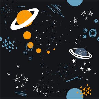 Tapeta Gwiazdy, planety i konstelacje, wzór