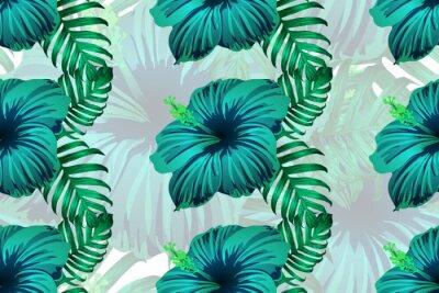 Tapeta Hawajska tropikalna dżungla w nieskończoność.