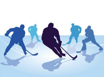 Tapeta Hokej gracze, łyżwiarstwo z hokejem