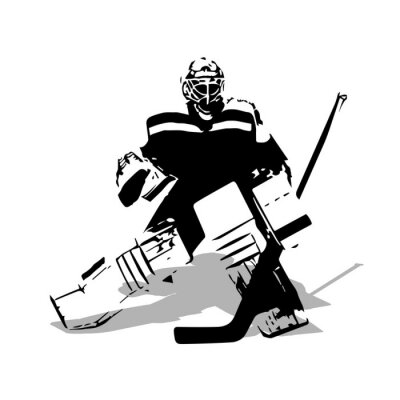 Tapeta Hokej na lodzie bramkarz, streszczenie ilustracji wektorowych