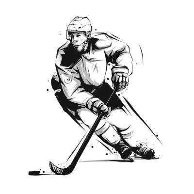 Tapeta hokej na lodzie w akcji