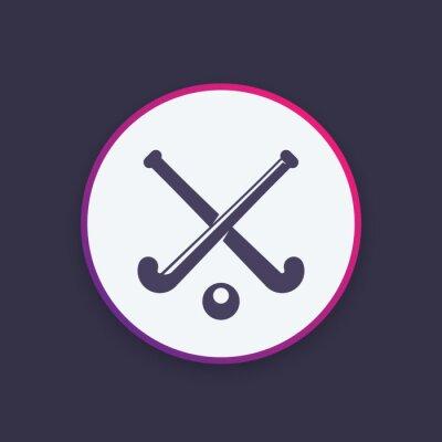 Tapeta Hokej na pole ikony wektorowe logo Element