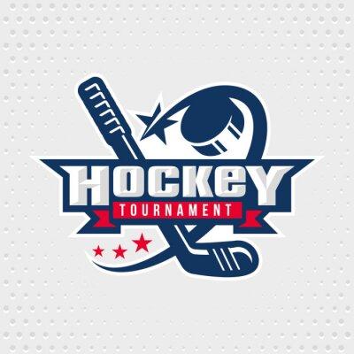 Tapeta Hokej znaczek, logo, godło szablon