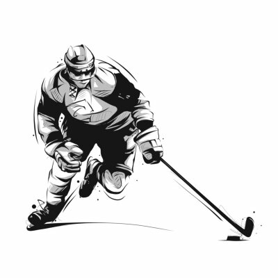 Tapeta hokeja na lodzie