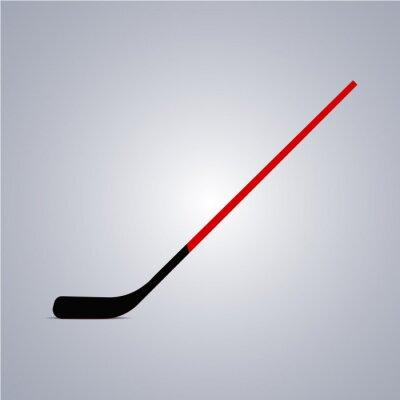 Tapeta Ikona kijem hokejowym. Ilustracji wektorowych