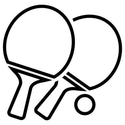 Tapeta ikona ping pong na białym tle