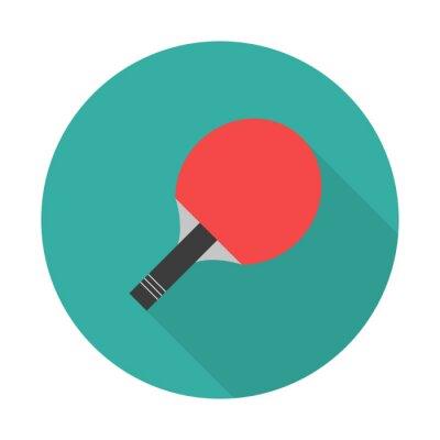 Tapeta Ikona rakiety do tenisa stołowego w płaskim stylu. Sport ilustracji wektorowych symbolu