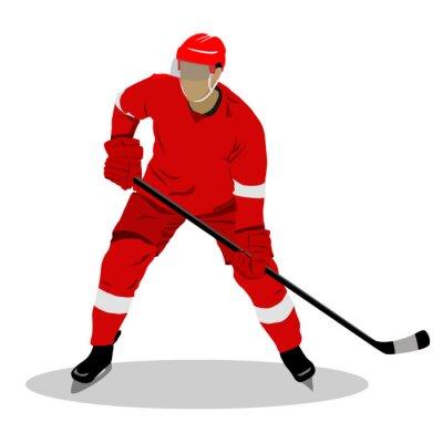 Tapeta Ilustracja gracza na lodzie