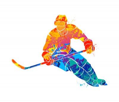 Tapeta Ilustracji gracza na hokeju