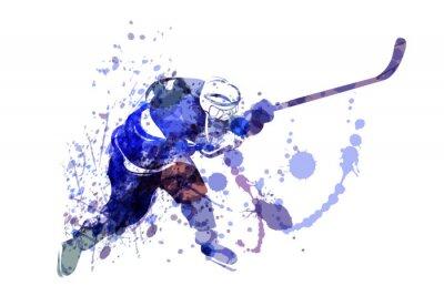 Tapeta Ilustracji wektorowych Akwarele hokeja