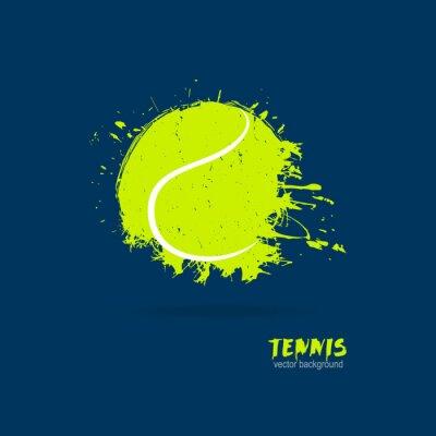 Tapeta Ilustracji wektorowych kort tenisowy (retro, grunge, spray). Druk graficzny na koszulki. Elementy sportowe dla plakatów, bannerów, ulotek.