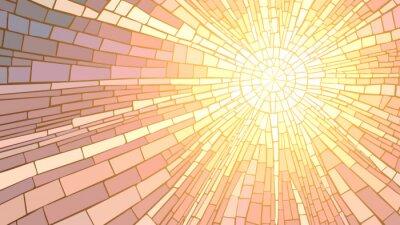 Tapeta Ilustracji wektorowych mozaiki słońca.