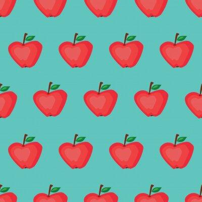 Tapeta jabłko 2 wektora bez szwu deseń