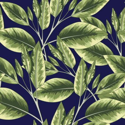 Tapeta Jaskrawej dżungli Bezszwowy Wektorowy Tropikalny wzór