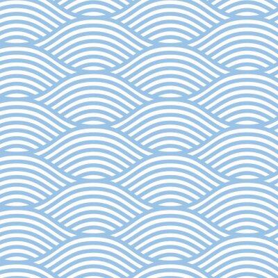 Tapeta Jednolite tło wzór fali linii