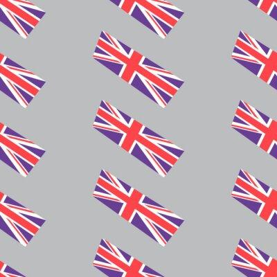 Tapeta Jednolite tło z brytyjskimi flagami