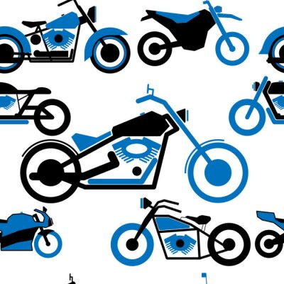 Tapeta Jednolite wzór prosty czarny motocykl
