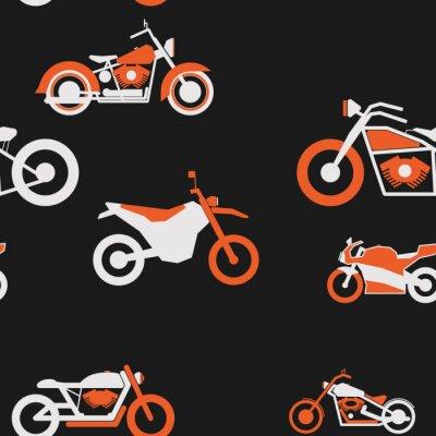 Tapeta Jednolite wzór prosty motocykl biały pomarańczowy