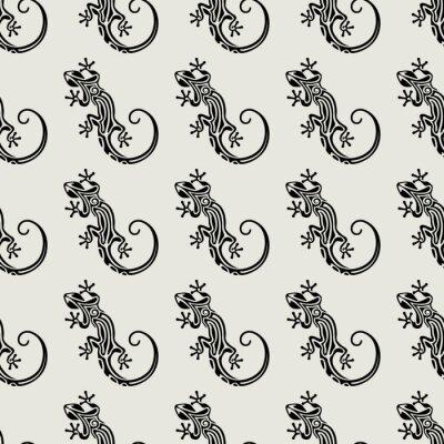 Tapeta Jednolite wzór salamandra. Bezszwowych tekstur z jaszczurkami. Streszczenie charakter tła. ilustracji wektorowych
