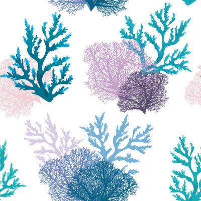 Tapeta Jednolite wzór z rafy koralowej.