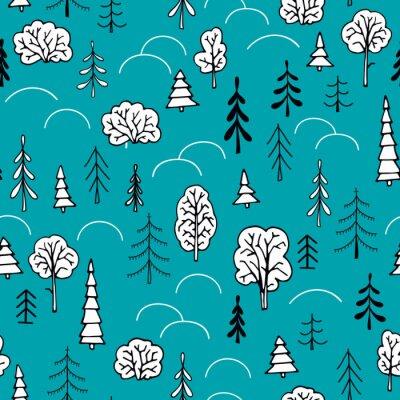 Tapeta Jednolite wzór Zimowy las