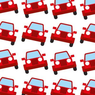 Tapeta Jeep samochód podróży transport bezszwowe wzór obraz ilustracji wektorowych