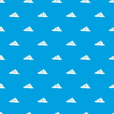 Tapeta Kanadyjski góry wzór bez szwu niebieski