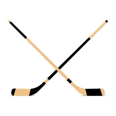 Tapeta Kij hokejowy na szarym tle