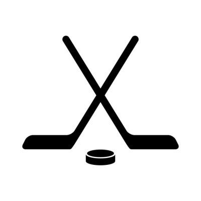 Tapeta Kij hokejowy z płaskiego krążka ikony aplikacji i stron internetowych