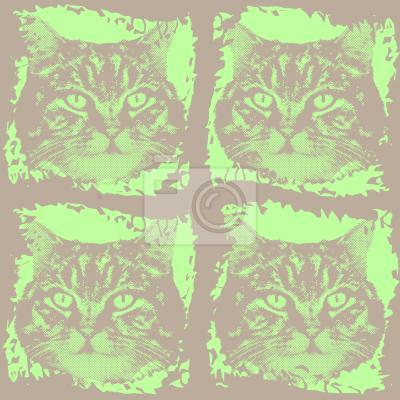 Tapeta Kitty Minka Zielona