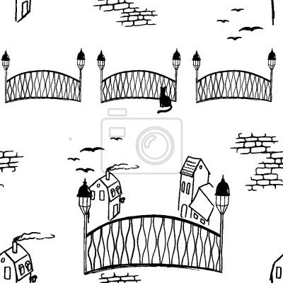 Tapeta Kociak Biały Most