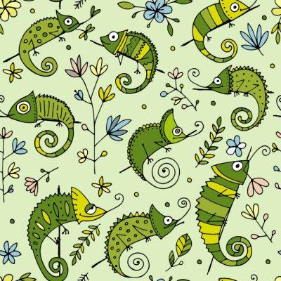 Tapeta Kolekcja Chameleon, wzór bez szwu do projektowania