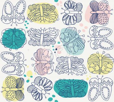 Tapeta kolekcja Motylów