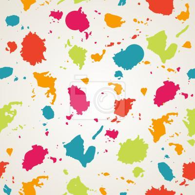 Tapeta Kolorowe bloty