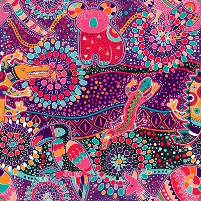 Tapeta Kolorowe dekoracyjny wzór. pochodzenie etniczne