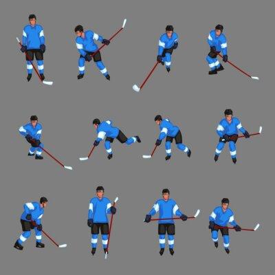 Tapeta Kolorowy zestaw hokeja