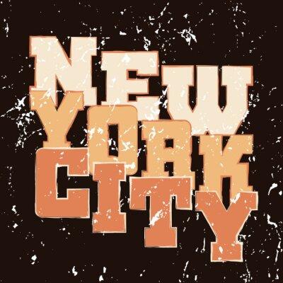 Tapeta Koszulka typografii grafiki Nowy Jork. Athletic styl NYC. Moda amerykański stylowy druku dla odzieży sportowej. Szablon do odzieży, karty, plakatu. Symbol duże miasto. ilustracji wektorowych