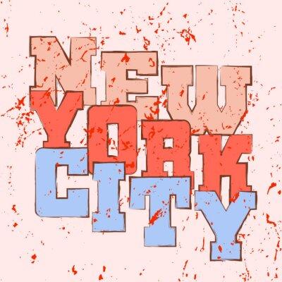 Tapeta Koszulka typografii grafiki Nowy Jork. Śliczne sportowiec styl dziewczyna NYC. Moda amerykański stylowy druku dla odzieży sportowej. Kobieta szablon odzieży, karta, plakat. Symbol dużego miasta. ilust