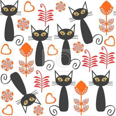 Tapeta Koty na łące