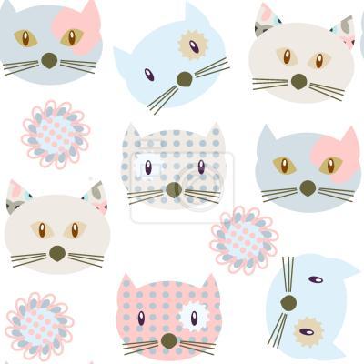 Tapeta Koty Noszące Patchworky