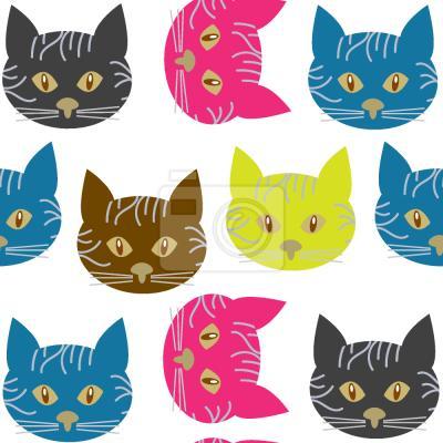 Tapeta Koty Pop Art