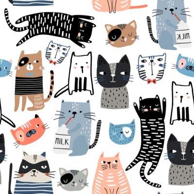 Tapeta Kreatywna dziecinna tekstura. Idealne do tkanin, ilustracji wektorowych włókienniczych