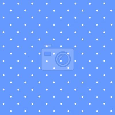 Tapeta Kropki Na Niebiesko