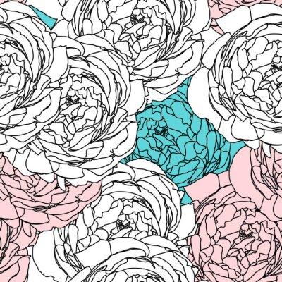 Tapeta Kwiat bez szwu, EPS 10