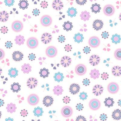 Tapeta Kwiatowy wzór z kwiatem. Tło wektor włókienniczych, drukowanie, tapety, zawijanie.
