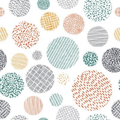 Tapeta Ładny wzór w stylu bazgroły. Wydrukuj ręcznie rysowane tkaniny. Ilustracji wektorowych.