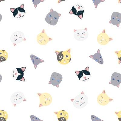 Tapeta Ładny wzór wektora kotów